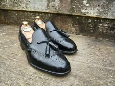 CROCKETT & JONES TASSEL LOAFERS – BLACK - UK 8.5 (WIDE) – LLOYDS –EXCELLENT COND