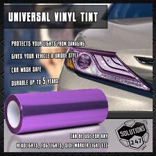 "2x Purple Vinyl Film Smoke Tint Headlight Taillight Fog Light 12""x24"" In 1x2 FT"