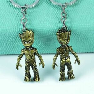 Guardians of the Galaxy Groot Alloy Key Chains Keychain Keyring Copper Colour
