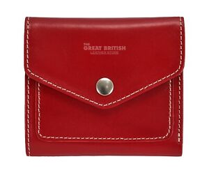 Women Small Glaze Wallet Genuine Leather Small Card Holder Bifold Compact Purse