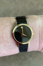 Movado Museum Watch Womens Model 87-A1-832 Gold (Needs Battery) Water-Resistant
