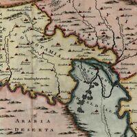 Mesopotamia Babylonia Assyria c.1750 charming decorative old map lovely example