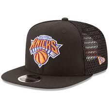 New Era New York Knicks Black Mesh Fresh 9FIFTY Adjustable Snapback Hat - NBA