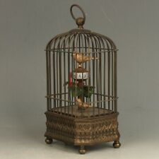 antiqueStyle Mechanical Clock Horologe- Exquisite Brass Birdcage Shape