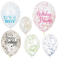 Confetti Balloons Party Wedding Air Filled Boy Girl Kid Decoration Event Glitter