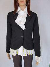 DOROTHY PERKINS Ladies Black Office Tailored Tweed Blazer Jacket sz 8 Small AM42