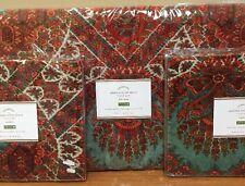 NEW Pottery Barn Sabrina Print Velvet FULL QUEEN Duvet + 2 STANDARD Shams