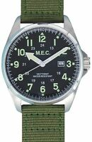 Orologio Da Uomo Militare Vintage Movimento Al Quarzo In Acciaio MEC SAS Green