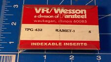 Vrwesson Fansteel Inserts Tpg 432 Ramjet 1 New Old Stock Waukegan Il Usa