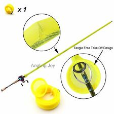 Tangle Free Casting Fishing Rod  Jacket Cover Sleeve Pole Glove Sock HS