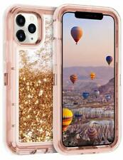 iPhone 11 Pro Case Heavy Duty Shockproof Quicksand Liquid Glitter Bumper Cover