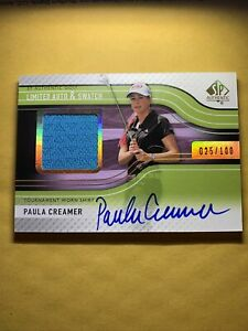 2012 Upper Deck SP Authentic Golf Paula Creamer Limited Auto & Swatch #25/100