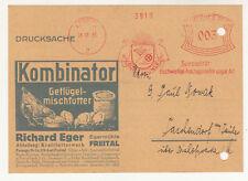 Werbe Drucksache Richard Eger Egermühle Futterwerk Freital - Dresden 1933 (D4