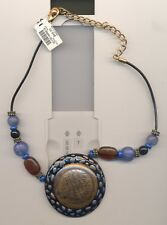 CHICO'S BEADED LARGE PENDANT NECKLACE