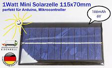 1Watt 6V 166mA Epoxid Solarzelle Solar modul Solarpanel f. Arduino Modellbau DIY