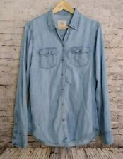 Abercrombie & Fitch L/S Chambray Denim Button-Up Blouse Medium