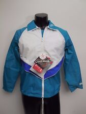 Women's Vintage Bill Rogers Teal and White Running Warm Up Jacket Size Medium 80