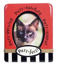 Pet Supplies Cat Lover Products Photo Picture Frame New Nib 4 x 6 Red Ceramic