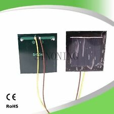 10pcs solar cell panel board 54*54 2v 130mA with 15cm wire
