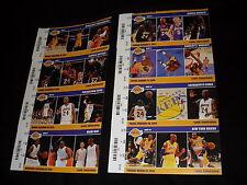 NBA Los Angeles Lakers Kobe Bryant 2013-2014 season 8 unused tickets stubs Set B