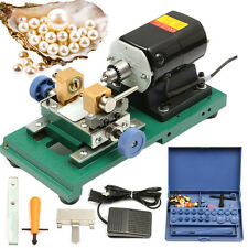 220V 280W Stepless Pearl Holing Drilling Machine Driller Jewelry Punch Tool Set