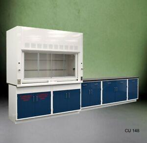 Fisher American 6' Fume Hood w/ Flammable Storage &9' Laboratory Cabinets E1-780