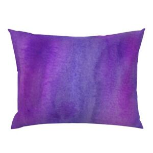 Ultraviolet Purple Watercolor Texture Av Pillow Sham by Roostery