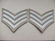 BRITISH ARMY RAF/SAS/ROYAL MARINES/SBS TROPICAL DRESS SERGEANTS STRIPES/CHEVRONS