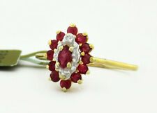 GENUINE 0.41 Cts RUBY & DIAMONDS RING 10K GOLD ** Free Certificate Appraisal *