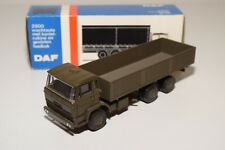 ± LION CAR DAF 1900 2100 TRUCK LONG CHASSIS ARMY GREEN NEAR MINT BOXED