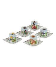 Cardew Design Alice in Wonderland Cup & Saucer Set of 5   New in Box