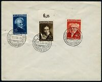GERMANY DANZIG SCHOPENHAUER ANNIVERSARY FIRST DAY COVER 2/28/1938 AS SHOWN