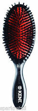 Kent Large Black Natural Bristle Cushion HAIR BRUSH Midnight Ruby Hairbrush CSFL