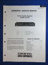 ONKYO EQ-240 EQUALIZER EQ SERVICE MANUAL ORIGINAL FACTORY ISSUE