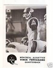 1981 Jogo CFL Montreal Alouettes Team Set