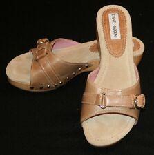 Steve Madden Womens Brown Slip On Heels Shoes 8 1/2 B 8.5 Elpasso Clogs Mules