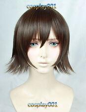 Final Fantasy XV FF15 Iris Amicitia Wig Mixed Brown Short Cosplay Wig + Wig Cap