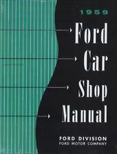 1959 Ford Car Shop Manual 59 Fairlane Galaxie Ranchero 300 500 Retractable