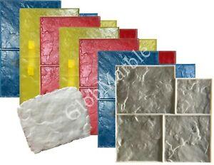 8 Pc Concrete Stamps Set. Ashlar Slate Cement Texture Imprint Stamp Mats SM 3001