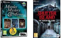 Murder, Mystery & Mirrors Triple Pack & shutter island  new&sealed