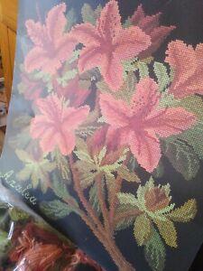 Elizabeth Bradley Azalea Tapestry Kit Part worked