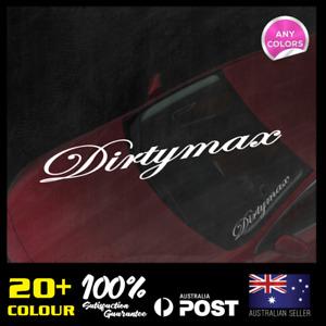 Dirtymax  Windscreen Decal 400x70mm JDM Sticker Vinyl Lower Car Static