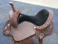16 BARREL RACING SHOW PLEASURE TRAIL RACER TOOLED LEATHER WESTERN HORSE SADDLE