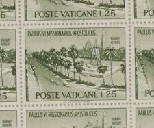 PRL) POSTE VATICANE LIRE 25 FOGLIO MNH** FRANCOBOLLI PAULUS VI TIMBRE STAMP