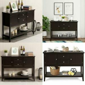 Wooden Sideboard Buffet Console Table  w/ Drawers and Storage
