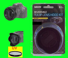 B600:BOWER REVERSIBLE HOOD+UV FILTER+LENS CAP to CAMERA NIKON COOLPIX B600 B 600