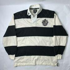 Guinness Mens Rugby Polo Official Merchandise Harp Badge Long Sleeve Sz Medium