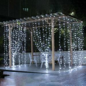 10ft x 10ft Led Fairy Lights Curtain Lamp String Light DIY Home Garden Decor