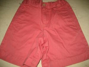 $40 NEW Boy 5 Light Soft Red VINEYARD VINES Cotton Twill LONG SHORTS Pink