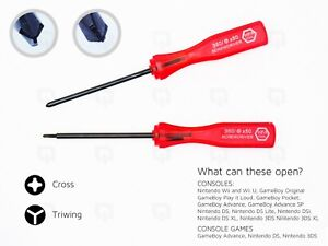 Tri Wing cross screwdriver for DS DSi GameBoy Wii Nintendo tool GBA SP 3DS XL U